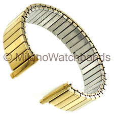 16-20mm Kreisler Mens Gold Tone Dura Flex Stainless Steel Mens Watch Band