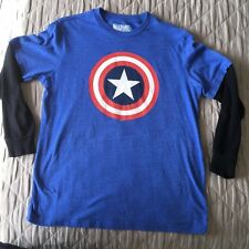 MARVEL T-SHIRT  CAPTAIN AMERICA SIZES  boys XL -- pre owned —LOW PRICE  B1