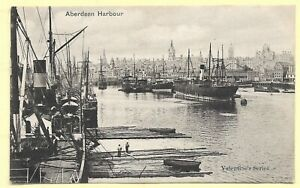 Vintage Printed  Pc,     ABERDEEN HARBOUR    315A