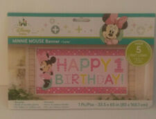 1st Birthday Minnie Mouse Banner 5 feet Long Party Supplies New