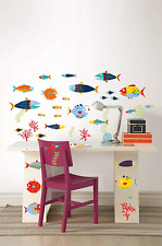Wall Art Kit Large & Small Colourful Fish * Seaweed *Coral * 38 pieces