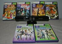 Microsoft Xbox 360 Kinect Motion Sensor Bar Black & 6 compatibles Games Bundle !