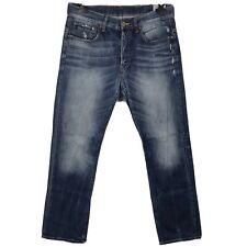 """G-STAR RAW 3301 Size W32"""" L30"""" Men's Blue Distressed Straight Leg Denim Jeans"""