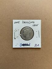 One Shilling 1845 British Coin 92.5% SILVER Good Condition Circulated