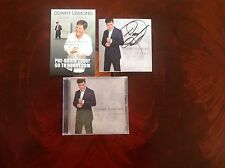 Donny Osmond Autographed Insert Book with rare Promo Card and his 60th Album/CD
