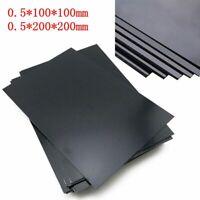 0.5mm Épaisse ABS Plastique Plaque Styrène Plat Feuille Noir Board Multi-Purpose