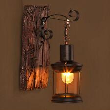 LOFT Industrial Retro Metal Wood Sconce Cafe Wall Lamp Fixture Wall Light K86