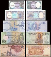 Egypt 5 Piastres - 1Pound Set 5 PCS BrandNew Banknotes
