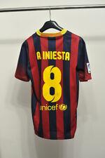 Barcelona Barca Home football shirt 2013 - 2014 #8 A. Iniesta size S