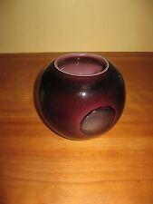 round  glass purple eggplant flower vase volitive candleholder candle holder