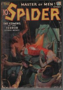 Spider 1936 September.   Pulp
