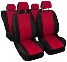 CAR SEAT COVERS fit Volkswagen Lupo - XR black/red sport style full set