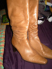 RIVA of ITALY Real LEATHER Smart  BOOTS ~ Size 7 EUR 41 ~ BROWN BRAND NEW