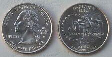 USA State Quarter 2002 Indiana P unz.
