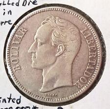 1936 VENEZUELA 5 BOLIVARES VERY NICE CONDITION COIN.
