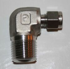 "1/4"" OD Tube x 1/2"" MNPT SS Elbow Fitting  Parker"