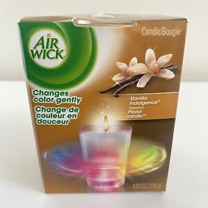 Air Wick Color Changing Candle 4.23 Oz Vanilla Indulgence Color Change Changes