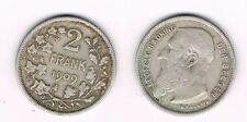Belgium, 2 frank 1909, Leopold II Koning der Belgen, argent silver silber coin