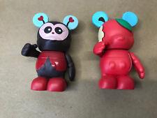 Disney Vinylmation 2 Lisa Badeen Figures ladybug & apple Mickey Mouse