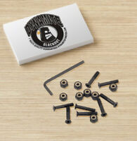 "Dynamite Forever Bolts 1"" Inch Blackouts Skateboard Hardware New"