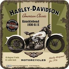 Nostalgie Dessous De Verre Harley Davidson Knucklehead Logo Moto F. verre/tasse NEUF