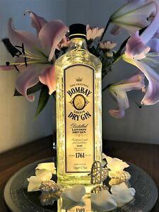 Bombay Gin Bottle Light, 100 Lights, Original Top, Warm White, Gift , Party