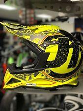 JUST 1 J12 Carbon Helmet Fluo Yellow Stamp XL Extra Large Carbon Fiber MX Moto