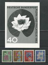 BRD FOTO-ESSAY 392/395 FLORA 1963 SEEROSE UNVERAUSGABTER WERT! PROOF RARE! e103