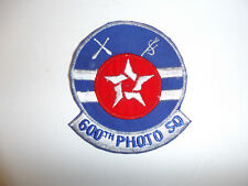 C0456 Vietnam Correspondent Patch 600th Photo Squadron US Air Force R9E