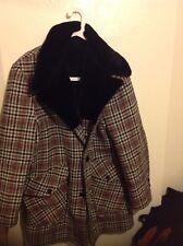Mens Top Designer Fur Lined Winter Coat  Size 40 Regular