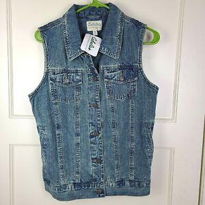 NWT Cabela's Women's Sleeveless Aged Denim Vintage Indigo Vest Size: M