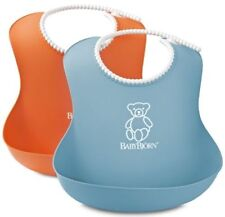 BABYBJORN Soft Bib X 2 - Orange and Turquoise