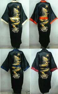 Men's/Women's Kimono Robe Bathrobe Dress Nightdress Double-Face Big Dragon Motif