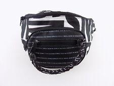 STEVE MADDEN JORDAN Black WHITE LOGO CONVERTIBLE Belt Bag Handbag