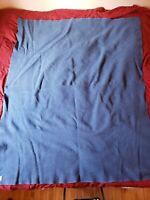 Pendleton 100% Wool Blue Herringbone Blanket 72 X 60