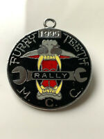 FURRY TEETH M.C.C. RALLY 1995 MotorBIKE Enamel Badge MOTORING MOTOR CYCLE