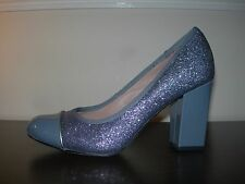 BOUTIQUE BY HOTTER WOMEN'S COURT SHOES GREY PATENT LEATHER GLITTER EU 37 / UK 4