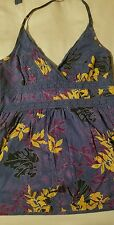 H&M- Floral Halter Top with Zipper Closure - size 4