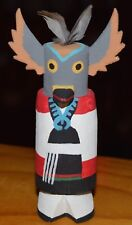 OWL MAIDEN CARVING GRACE POOLEY ROUTE 66 KACHINA CARVING HOPI  FREE SHIP