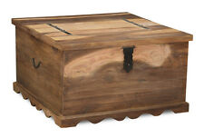 Living Room Furniture Jali Natural Sheesham Square Trunk Coffee Table (j44n)