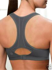ATHLETA Hullabaloo Bra,  NWT, 32 B, Asphalt, High Support - Great Look!
