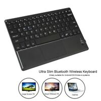 10in Ultra Slim Wireless Bluetooth Keyboard with Touchpad for Android/iOS/Win