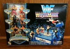 WWF Wrestlemania Action Ring & Mini Figures Box Set New NIB Jakks Bret Owen Hart