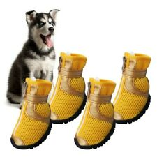New listing 4pcs Pet Dog Shoes Small Large Anti-slip Mesh Boots Breathable Booties