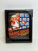 Nintendo Super Mario Bros NES: 10x12 - 3D ShadowBox Wall Decor Art Poster Frame
