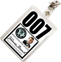 James Bond 007 MI6 SIS ID Badge Name Tag Card Prop for Costume & Cosplay JB-3