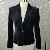 Briggs New York Blazer Size 8 Velvet Cotton Jacket Womens career Professional