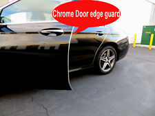 Fit 2012-2019 Alfa Romeo CHROME DOOR EDGE GUARD Protector 4pcs Kit