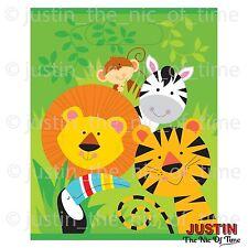 Zoo Animale Giungla Safari Ragazzi Festa Di Compleanno Plastica Bottino Borsa Regalo Favore Sacchetti x8