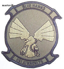 US.Navy `BLUE HAWKS` Squadron Cloth Badge / Patch (S2)